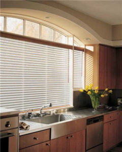 White Blinds in Kitchen