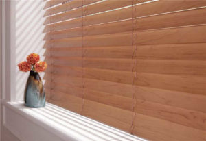 Tan Wood Blinds