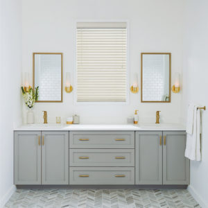 White Shades in Bathroom