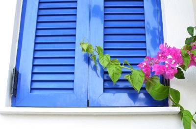 Blue Exterior Shutters