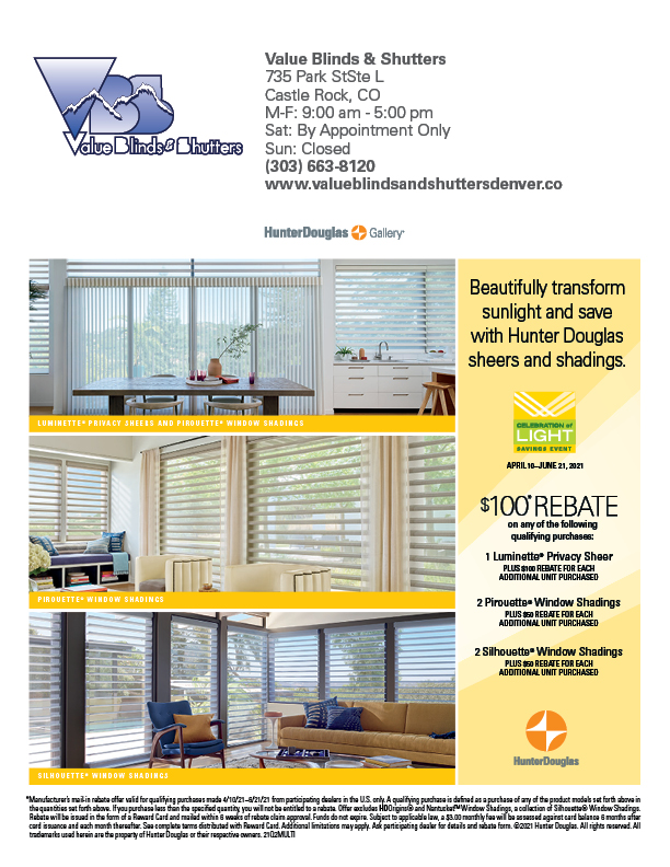Value Blinds and Shutters Special